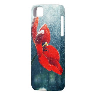 Capa Barely There Para iPhone 5 Flor na chuva
