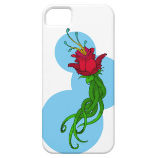 Capa Barely There Para iPhone 5 Flor no azul