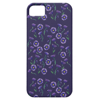 Capa Barely There Para iPhone 5 Flor roxa violeta