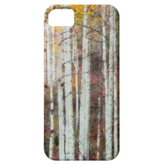 Capa Barely There Para iPhone 5 Floresta enevoada do vidoeiro