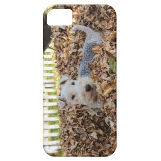 Capa Barely There Para iPhone 5 Fox Terrier prendido bonito