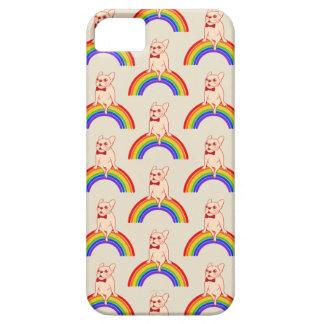 Capa Barely There Para iPhone 5 Frenchie comemora o mês do orgulho no arco-íris de