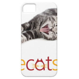 Capa Barely There Para iPhone 5 Gato de bocejo ou de riso