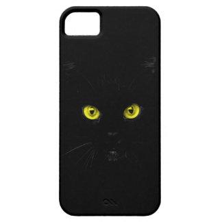 Capa Barely There Para iPhone 5 gato preto do caso do iPhone SE/5Sblack com olhos