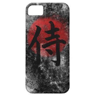 Capa Barely There Para iPhone 5 Grunge 2 do samurai do Kanji