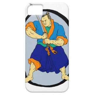 Capa Barely There Para iPhone 5 Guerreiro Katana Enso do samurai