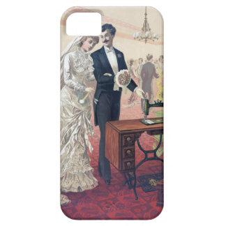 Capa Barely There Para iPhone 5 Ilustração dos noivos do vintage