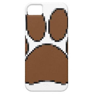 Capa Barely There Para iPhone 5 Impressão da pata do cão do pixel