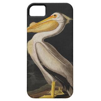 Capa Barely There Para iPhone 5 Impressão do vintage do pássaro do pelicano branco