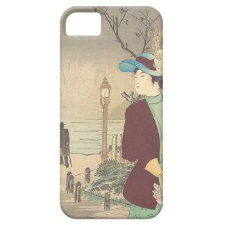 Capa Barely There Para iPhone 5 Impressão policromo japonês do woodblock