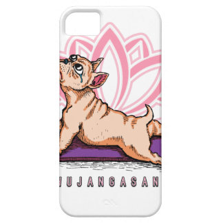 Capa Barely There Para iPhone 5 Ioga do buldogue francês - pose de Bhujangasana -