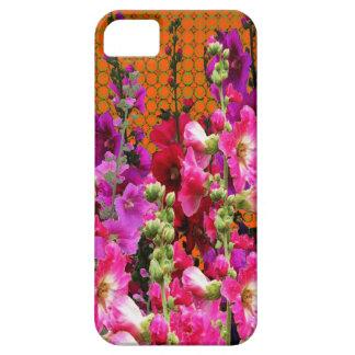 CAPA BARELY THERE PARA iPhone 5 JARDIM AMBARINO DA COR DO HOLLYHOCK COR-DE-ROSA