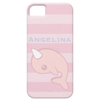 Capa Barely There Para iPhone 5 Kawaii Narwhal cor-de-rosa