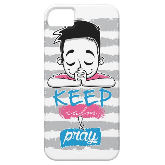 Capa Barely There Para iPhone 5 Keep calm and pray