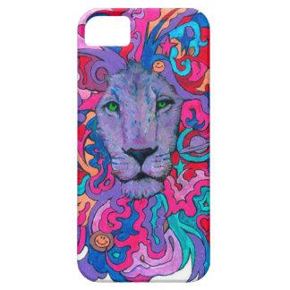 Capa Barely There Para iPhone 5 Leão psicadélico roxo
