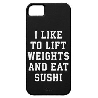 Capa Barely There Para iPhone 5 Levante pesos e coma o sushi - novidade engraçada