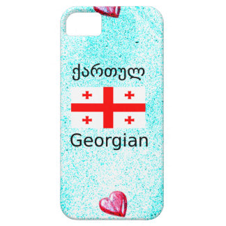 Capa Barely There Para iPhone 5 Língua e design Georgian da bandeira