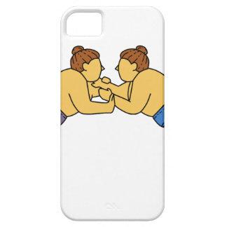 Capa Barely There Para iPhone 5 Linha dos lutadores do Sumo de Rikishi mono