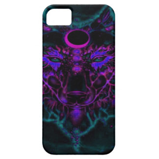 Capa Barely There Para iPhone 5 Lobo de néon Mythical da cerceta