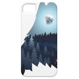Capa Barely There Para iPhone 5 Lobo que urra com floresta 4