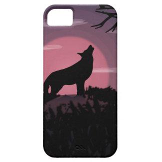 Capa Barely There Para iPhone 5 Lua cheia do lobo