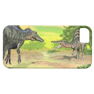 Capa Barely There Para iPhone 5 Luta dos dinossauros de Spinosaurus - 3D rendem