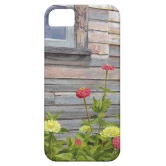 Capa Barely There Para iPhone 5 Madeira e Zinnias resistidos