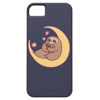 Capa Barely There Para iPhone 5 Mama Preguiça e bebês da lua