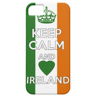 Capa Barely There Para iPhone 5 Mantenha a calma & ame Ireland