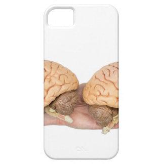 Capa Barely There Para iPhone 5 Mãos que guardaram o cérebro humano modelo no