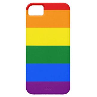 Capa Barely There Para iPhone 5 Mapa da bandeira de Arkansas LGBT