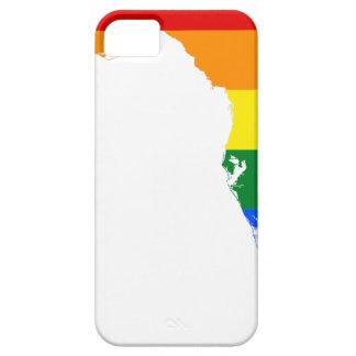 Capa Barely There Para iPhone 5 Mapa da bandeira de Florida LGBT