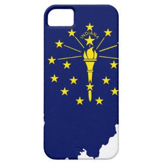 Capa Barely There Para iPhone 5 Mapa da bandeira de Indiana