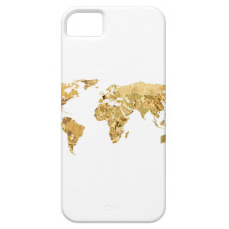 Capa Barely There Para iPhone 5 Mapa da folha de ouro