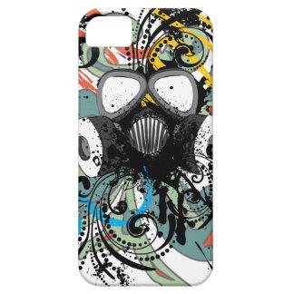 Capa Barely There Para iPhone 5 Máscara de gás floral do Grunge