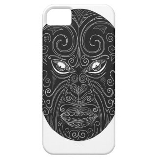 Capa Barely There Para iPhone 5 Máscara maori Scratchboard