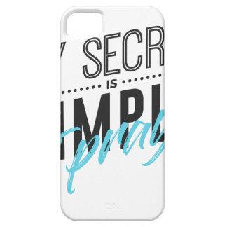 Capa Barely There Para iPhone 5 Meu segredo é simples mim Pray