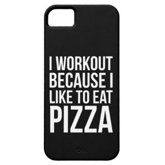 Capa Barely There Para iPhone 5 Mim exercício porque eu gosto da pizza - novidade