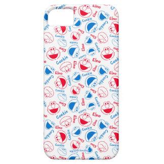 Capa Barely There Para iPhone 5 Monstro & Elmo do biscoito teste padrão vermelho &