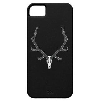Capa Barely There Para iPhone 5 Montagem européia do crânio dos alces de Bull, bw