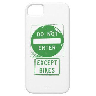 Capa Barely There Para iPhone 5 Não entre exceto bicicletas