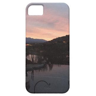 Capa Barely There Para iPhone 5 Nascer do sol lateral da piscina