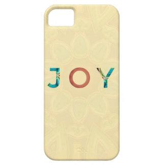 Capa Barely There Para iPhone 5 Natal moderno 'Joy do fundo de creme