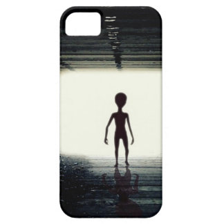 Capa Barely There Para iPhone 5 Nave espacial saindo estrangeira