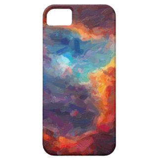 Capa Barely There Para iPhone 5 Nebulosa galáctica abstrata com nuvem cósmica 4