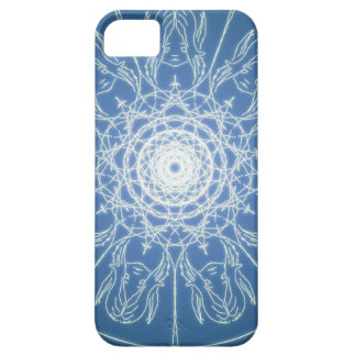 Capa Barely There Para iPhone 5 Neve espiral pagã de Wicca do Pentagram