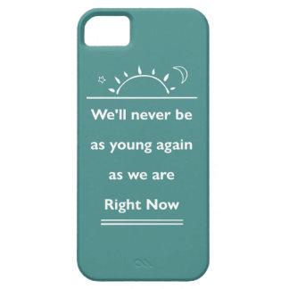 Capa Barely There Para iPhone 5 Nós nunca seremos como jovens outra vez