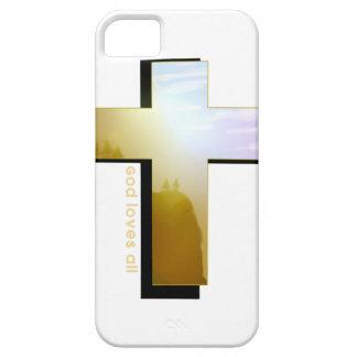 Capa Barely There Para iPhone 5 O deus ama toda a cruz