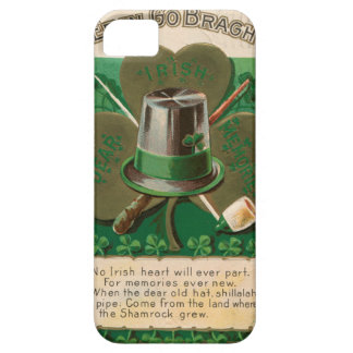 Capa Barely There Para iPhone 5 O erin do trevo do dia de VintageSaint Patrick vai