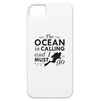 Capa Barely There Para iPhone 5 O oceano está chamando